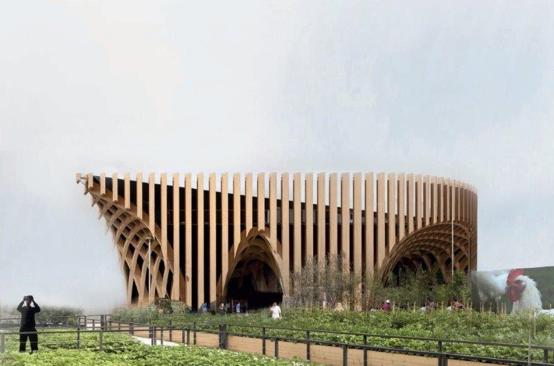Het imposante Franse paviljoen op de wereldtentoonstelling in Milaan. (Foto: XTU architects)