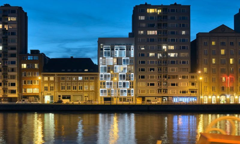 Prix du Projet privé résidentiel : Immeuble à appartements rue Saint-Léonard (Altiplan Architects scrl - Ralph Schröder)