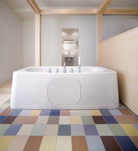 Het kleurenpalet staat toe een originele toets te geven aan elke badkamer.