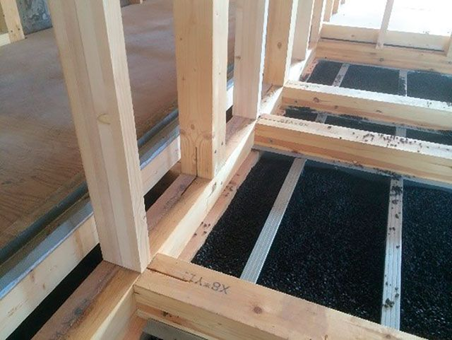 In situ realisatie van een innovatief houtbouwconcept.