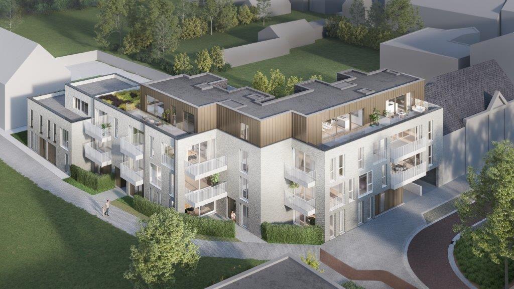 Extensieve groendaken voor Residentie Jean-Baptist van Mertens-architecten