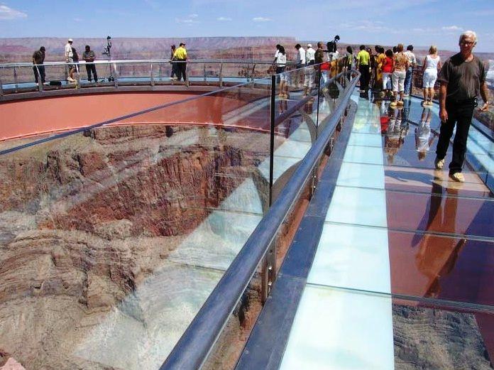 Skywalk in de Grand Canyon.