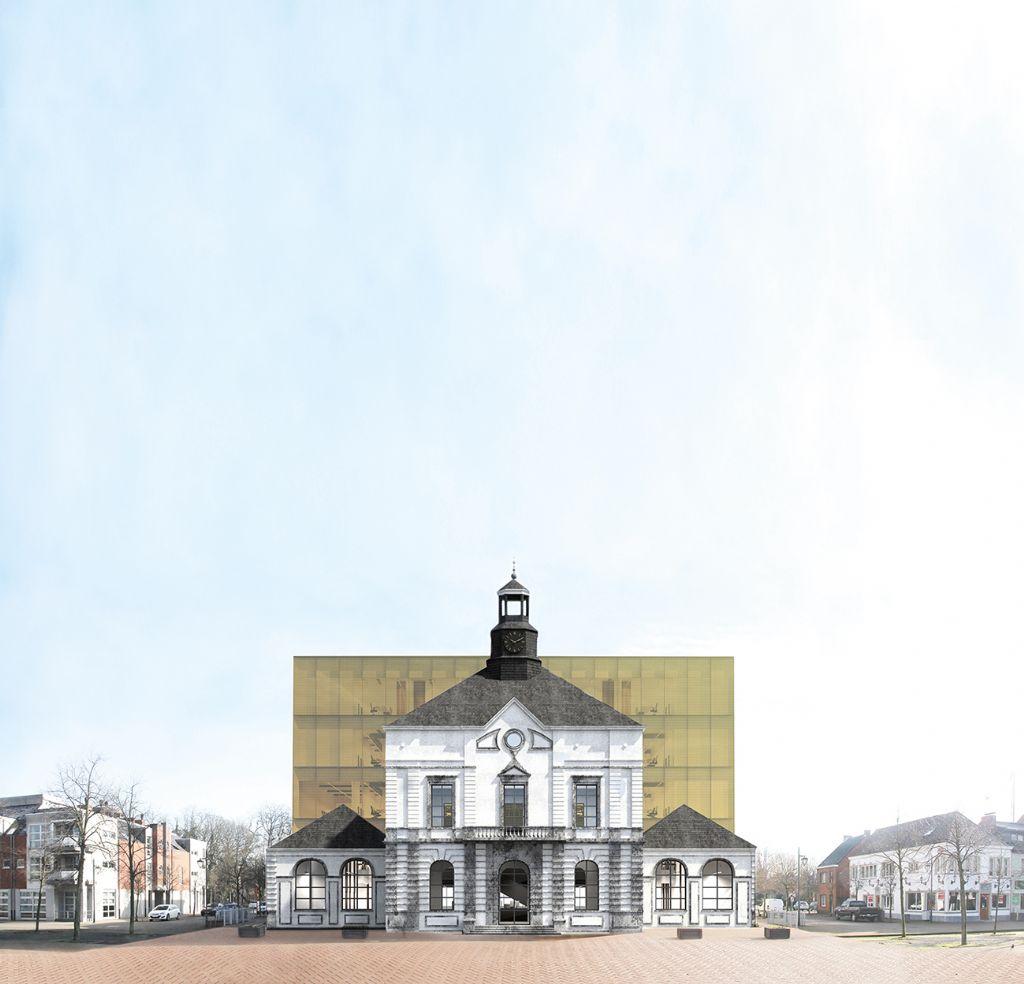 Render van het nieuw administratief centrum in Leopoldsburg.