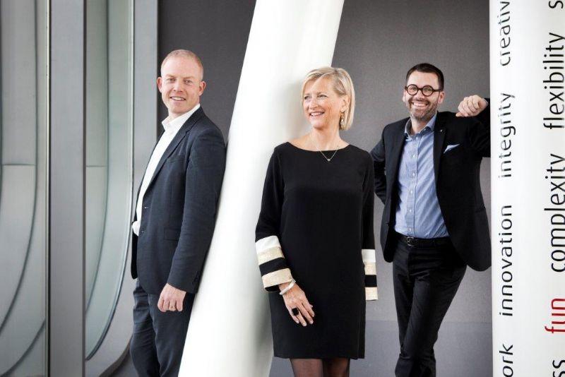 V.l.n.r.: Jorden Goossenaerts, Christine Conix en Frederik Jacobs.