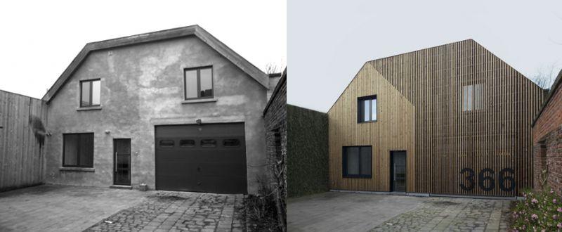 De jury van architectuurjournalisten was lovend over de gevelrenovatie in hout van Simon Vermote en beloonde hem met de prijs van de persjury.