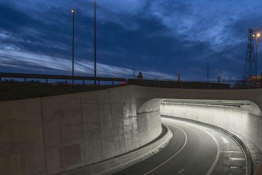 100% dynamische ledverlichting voor tunnel onder N31