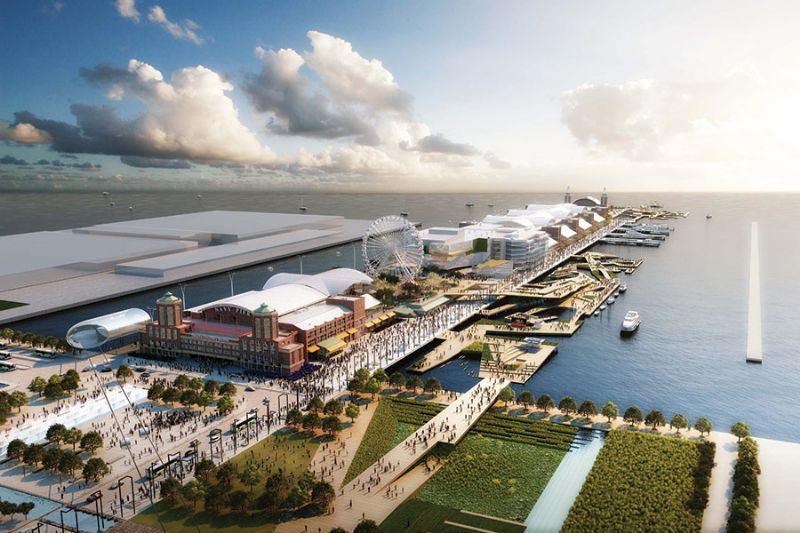 Het winnende ontwerp voor de Navy Pier competitie in 2011 door Marshall Brown Projects, Davis Brody Bond, Martha Schwartz Partners, en Halcrow Yolles.