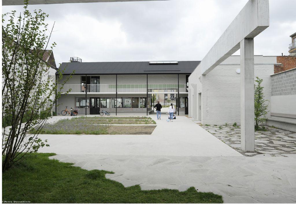 Standaertsite in Gent, ontworpen door Carton123 architecten, murmuur architecten en AE-architecten