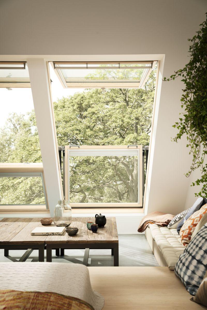 Ook de donkere ruimtes onder het dak kunnen met omgebouwd worden tot een lichte extra ruimte.