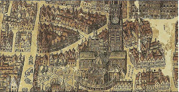 Kaart van het Nieuwwerck, dat nooit voltooid is.