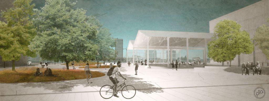 Tegen 2021 zal PTArchitecten de zone tussen de Kattendijkdok-Oostkaai en het dok aanpakken. Het bureau zal een deel van de oude industriële loodsen behouden en inrichten als overdekte buitenruimte voor evenementen
