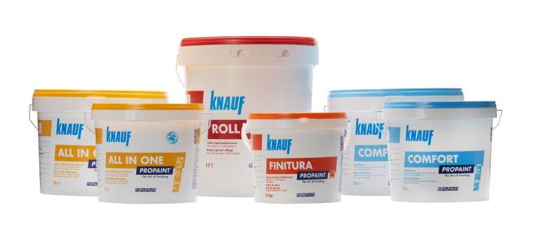 Voor de schildersbranche ontwikkelde Knauf zijn nieuwe Propaint gamma plamuren.