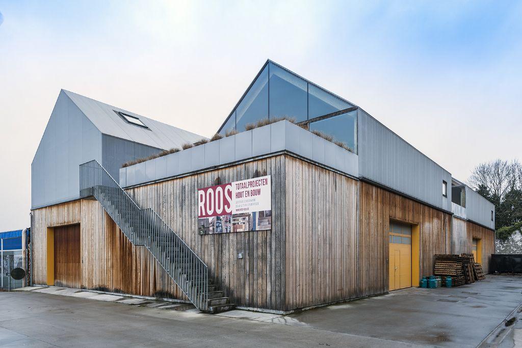 Wonen op het dak van een schrijnwerkersloods