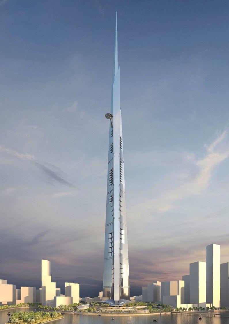 55 voetbalvelden glas in Jeddah Tower