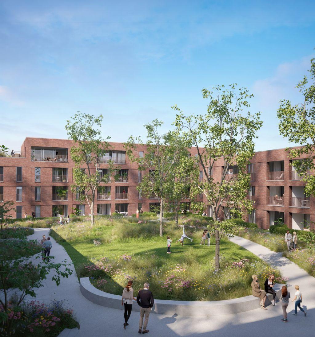 Plannen voor tweede fase Saffrou-site van Architecten Achtergael, Archipl Architecten, DNA Architecten en OMGEVING