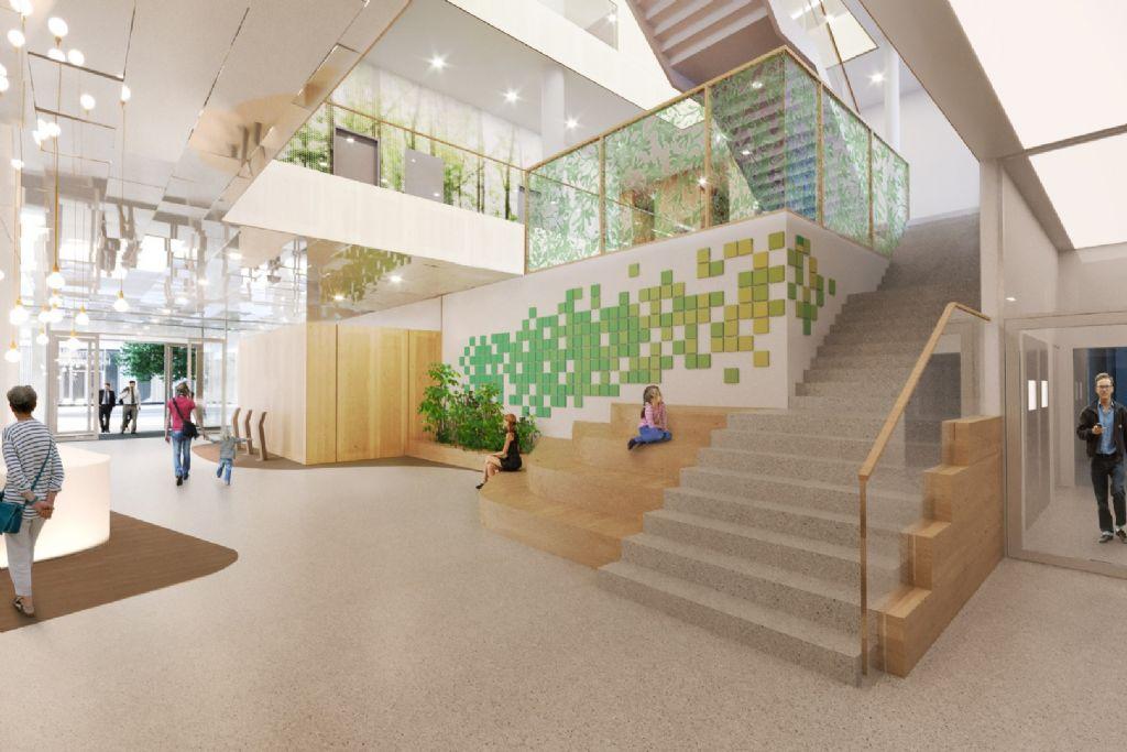 Le futur Institut Roi Albert 2 (intérieur)