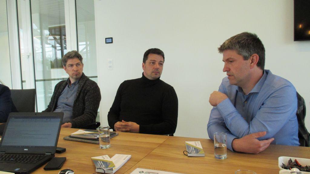 Frank Tack en Gert Janssen lichtten de belangrijke rol van BIM, virtual reality en augmented reality toe.