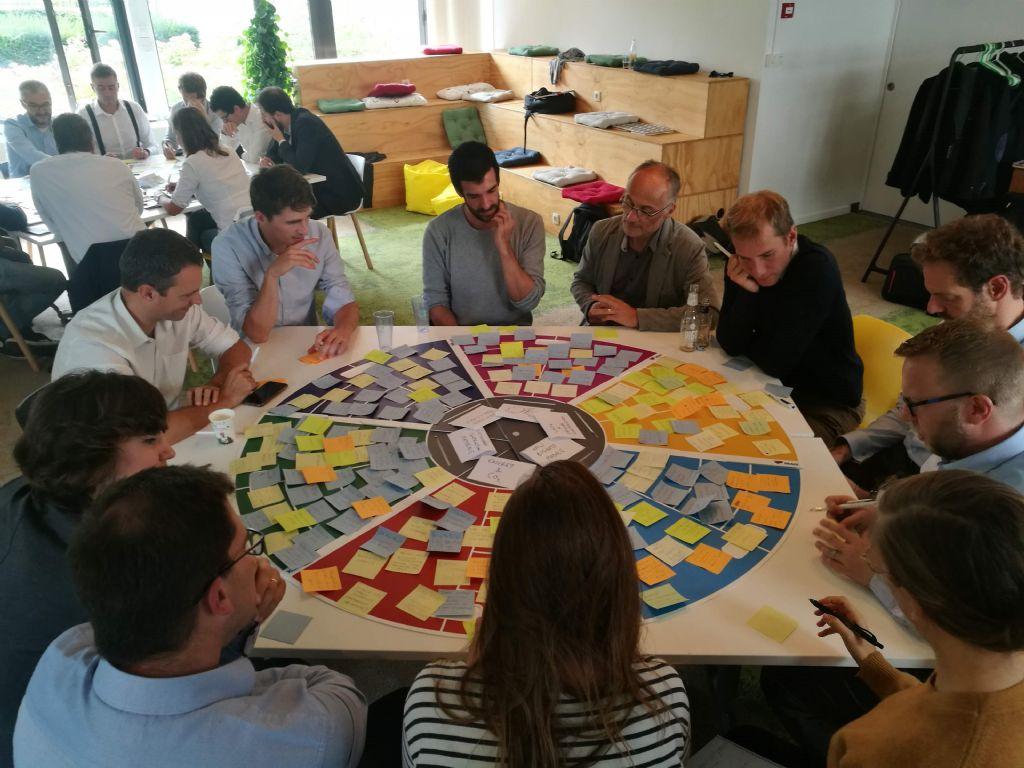 Brainstorming sessie over circulaire economie bij Besix