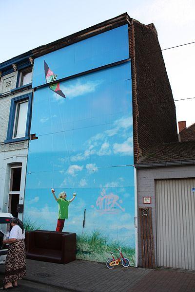 La fresque de l'enfant au cerf-volant sera préservée.