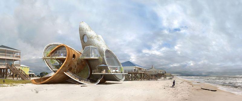 De inwoners kunnen hopelijk gebruik maken van deze ontwerpen om hun huizen beter bestand te maken tegen de stormen die de Gold van Mexico teisteren.