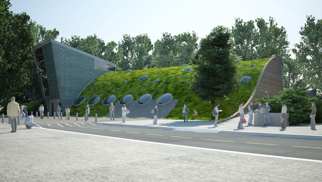 Een nieuw tuinier- en parkwachtersgebouw in de Kruidtuin (Arter Architects)