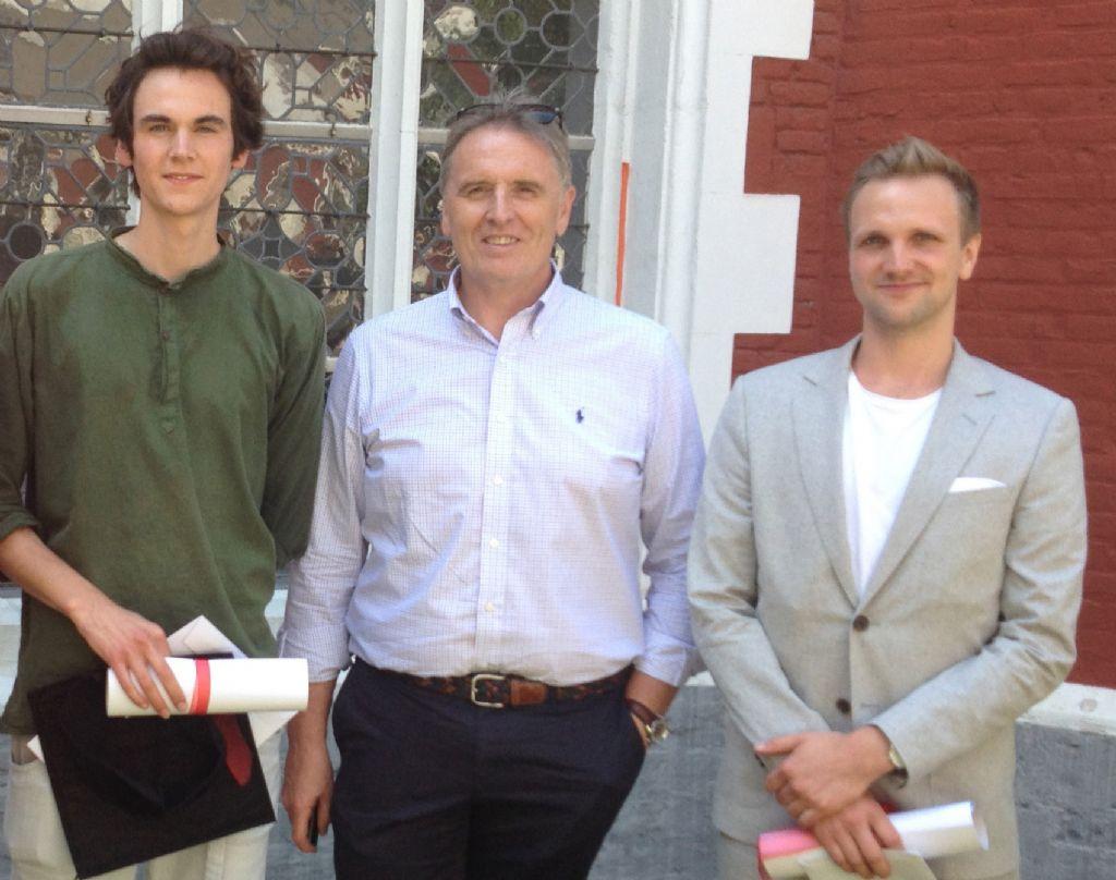 Vlnr: Juan Thibaut de Maisières, Philippe Van Goethem (Architect & Partner SVR-ARCHITECTS ) en Vincent Vanassche