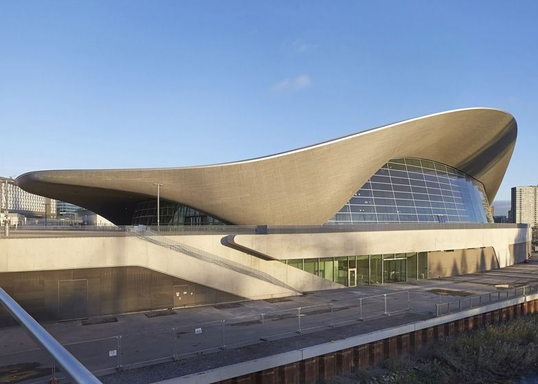 Het London Aquatics Centre 2012 door Zaha Hadid.