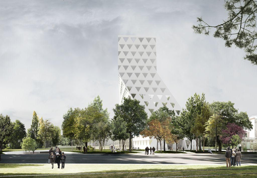 Xaveer de Geyter (XDGA architecten uit Brussel) ontwierp het opvallende gebouw.