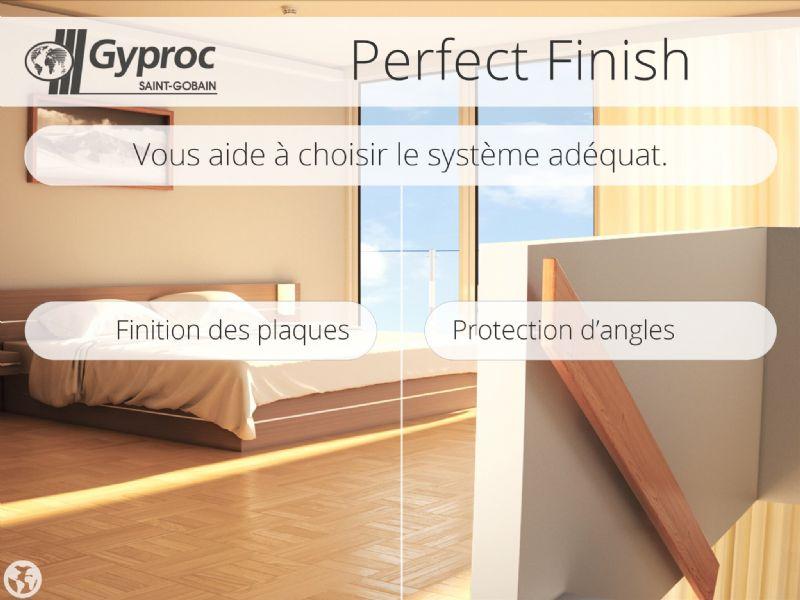 Gyproc lance l'appli Perfect Finish