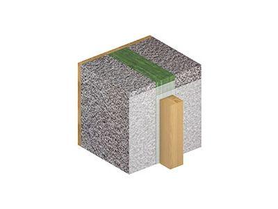 De overlapping tussen twee membranen wordt versterkt door middel van een latwerk (ook bij een uitvoering zonder kleefband, bijvoorbeeld wanneer de overlapping zich ter hoogte van een continue kitvoeg bevindt).