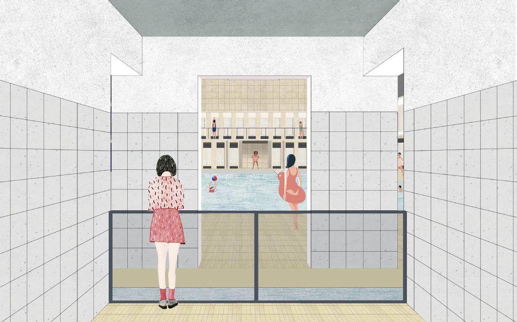AAC Architecture vernieuwt beschermd zwembad van Elsene