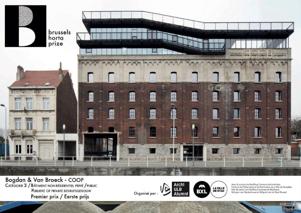 """Lauréat dans la catégorie """"Non-résidentiel"""" : Bogdan & Van Broeck Architects pour son projet """"Coop"""""""