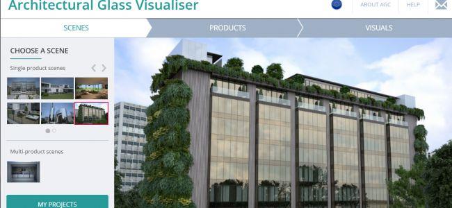 AGC's Architectural Glass Visualiser geeft preview van ontwerp