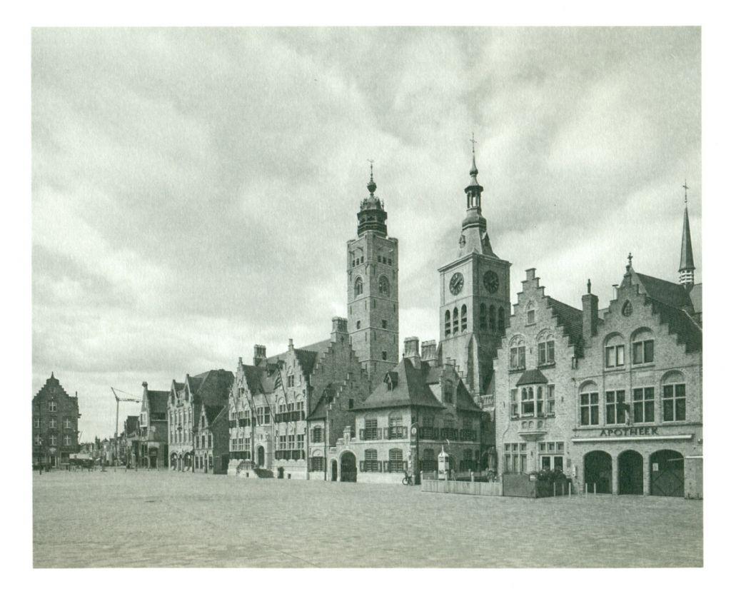 Diksmuide, wederopbouw door Jos Viérin i.s.m. V.Vaerwyck