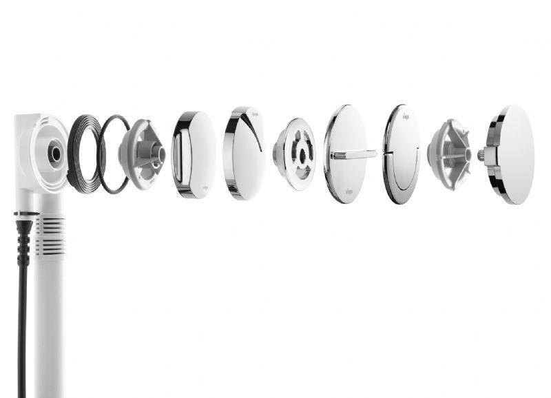 Door de compacte uitvoering kan de Multiplex Trio Visign MT5 zelfs onder de smalle randen van moderne designbaden worden gemonteerd.