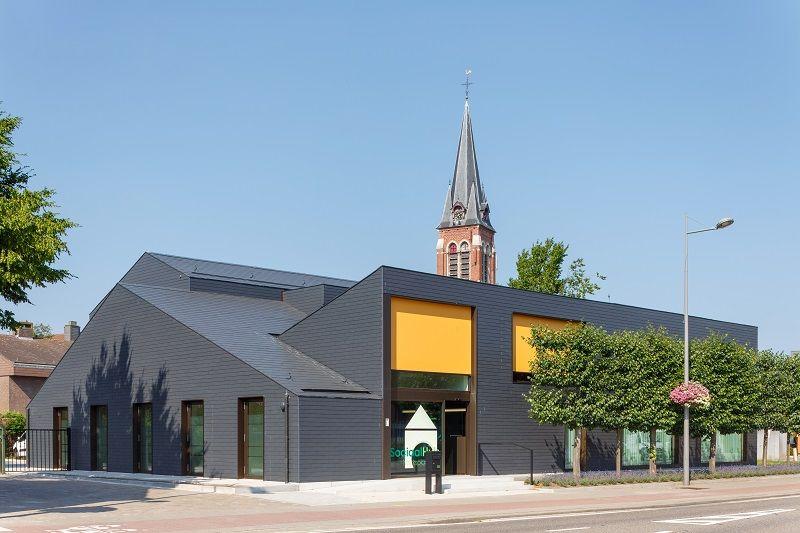 RADAR architecten steekt sociaal centrum in Merksplas in een nieuw jasje