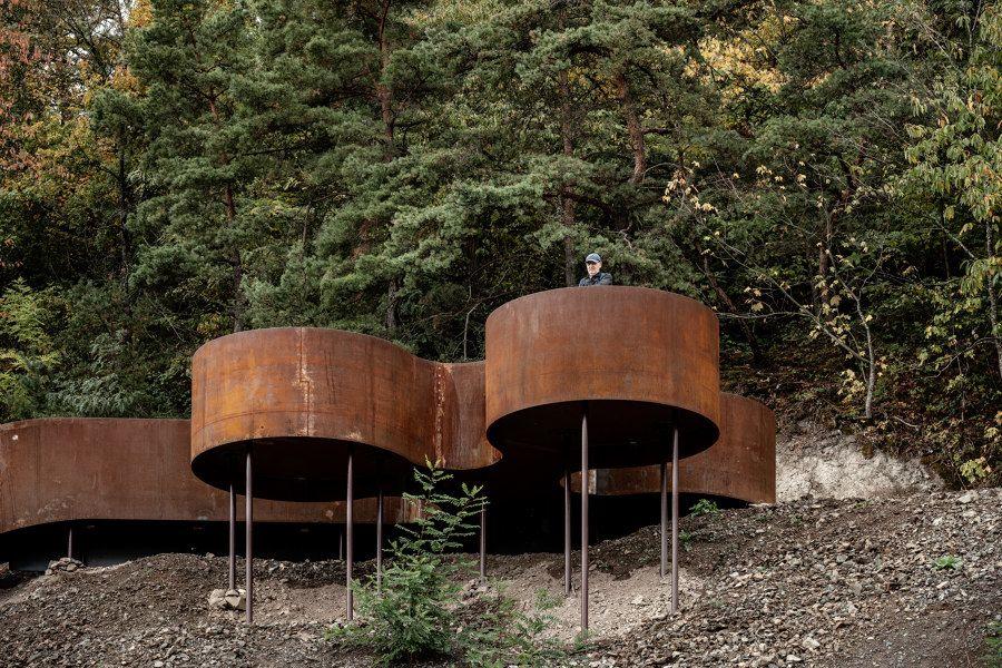 Une promenade alsacienne sublimée par l'acier Corten