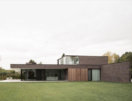 Elegante asymmetrische villa in de groene rand van Gent