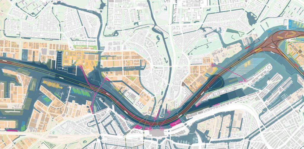 Bij onze noorderburen zorgde ORG voor een doorbraak in de aanslepende discussie over het bouwen van bruggen dan wel tunnels over/onder het Ij in Amsterdam om zo de sterk groeiende noordelijke wijk beter te ontsluiten