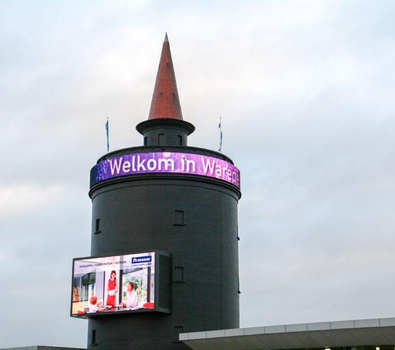 De IRISS watertoren in Waregem.