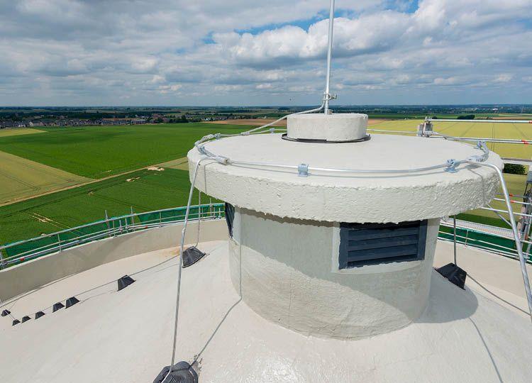 Ambitieuze renovatie van de watertoren van Juprelle op een hoogte van 50m.