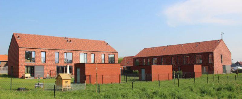 Het project met de 9 lage-energiewoningen in Vissenaken, Tienen.