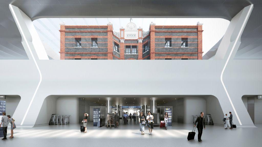 Het historische gebouw zal zichtbaar zijn van onder de grond