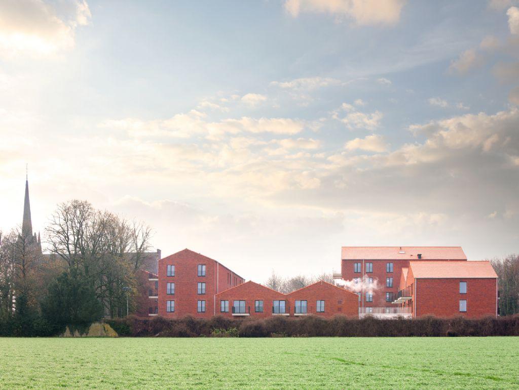 Er kwamen zowel nieuwbouw- als renovatiewerken aan te pas om het kloostercomplex op domein Gerkenberg om te vormen tot een bruisende woon- en leefbuurt.