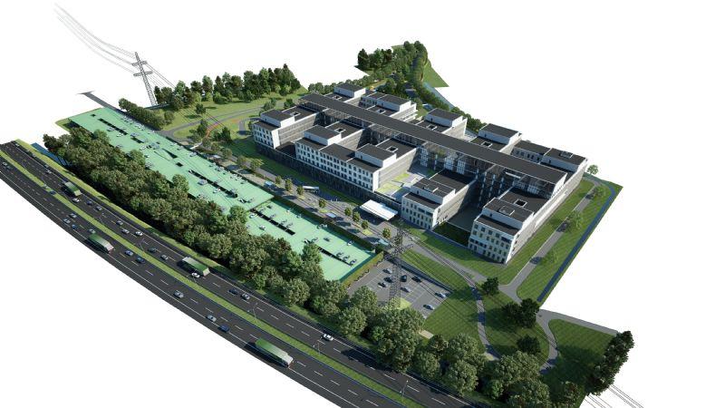 Zo zal het ziekenhuis er uitzien aan het eind van het project, in 2018.