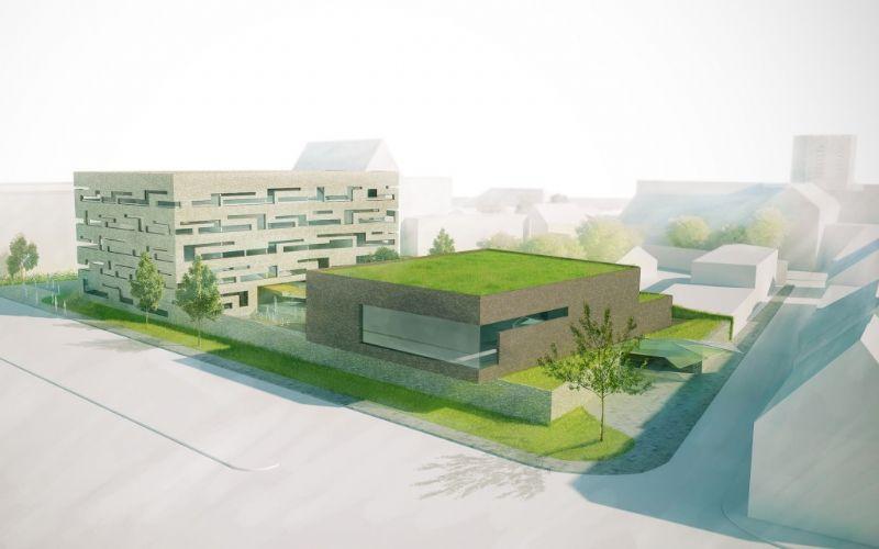 De nieuwbouw vindt plaats op de bestaande locatie van de scholengemeenschap in Dendermonde.