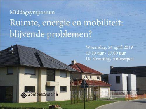 Symposium rond nieuw boek Filip Canfyn over ruimte, energie en mobiliteit
