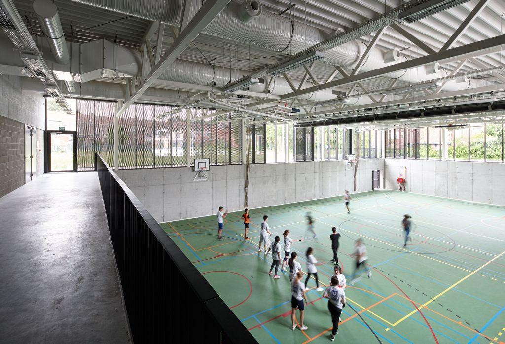 De nieuwe sporthal op campus Kaai © Dennis De Smet