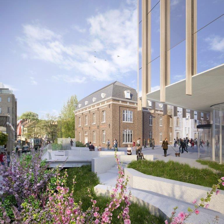 NSH Hasselt van UAU Collectiv i.s.m. Jaspers-Eyers Architects, Architectenbureau Michel Janssen, Democo en Kumpen.