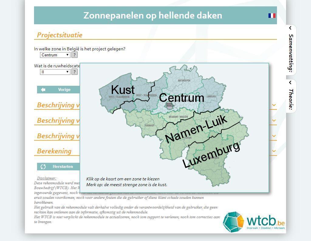 Selectie van een geografische zone.